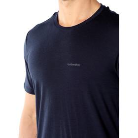 Icebreaker Tech Lite Wordmark Nature Answers Crew Top T-shirt Heren, midnight navy